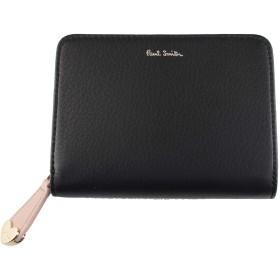 ポールスミス 財布 レディース ハートプル 二つ折り財布 ラウンドファスナー 正規品 新品 ラッピング無料 Paul Smith ポール・スミス レザー 女性 婦人 PWU914ブラック