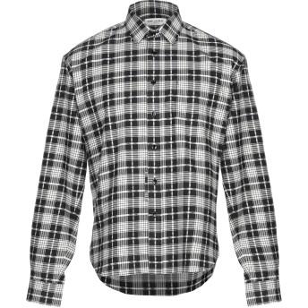 《セール開催中》SAINT LAURENT メンズ シャツ ブラック 40 コットン 85% / カシミヤ 15%