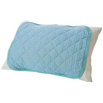 涼感枕パッド(ベーシック) - セシール ■カラー:ブルー ピンク ■サイズ:キルトタイプ(50×40cm)