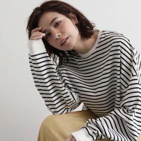 OZOC(オゾック)/[WEB限定カラーあり(レンガ・オフホワイト・ライトベージュ)・洗える]ビッグシルエットロングTシャツ