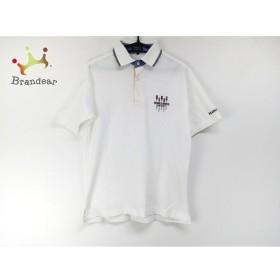 パーリーゲイツ PEARLY GATES 半袖ポロシャツ サイズ1 S レディース 白×ネイビー×マルチ 刺繍 新着 20190816