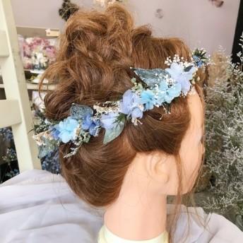 ブルーの花かんむり