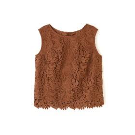 PINKY & DIANNE ◆ケミカルレースブラウス その他 シャツ・ブラウス,ブラウン1