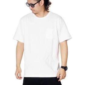 [ブラウンバックリカー] ポケットTシャツ メンズ 半袖 無地 ホワイト 白 BBL-CUT1301P L
