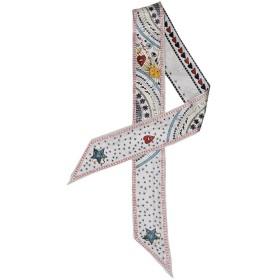 (トヨベイ)Toyobuy 個性的 プリント バッグ用細スカーフ 長方形 ハンドルスカーフ リボンスカーフ 巻きつけ アクセサリー 持ち手 小物(タイプC)