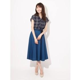 [マルイ]【セール】エコスウェードリボン付きハギフレアスカート/ファビュラスアンジェラ(Fabulous Angela)