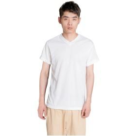 ilishop Tシャツ シャツ メンズ スポーツウエア トップス 吸汗速乾 半袖 Ⅴネック 無地 (ホワイト)