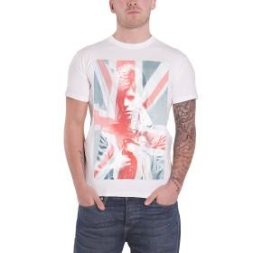 David Bowie T Shirt Union Jack & Sax Logo 新しい 公式 メンズ Slim Fit Sub Dye Size XL