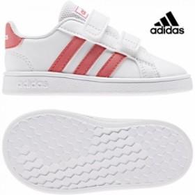 adidas【アディダス】 GRANDCOURT I (グランドコート) ランニングホワイト ベビー 赤ちゃん シューズ 靴 子供 adk 19FW ef0115