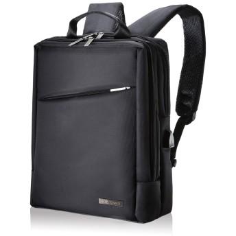 C two Q ビジネスバッグ ビジネスリュック 3way メンズ 大容量 防水 軽量 バックパック (01 ブラック)