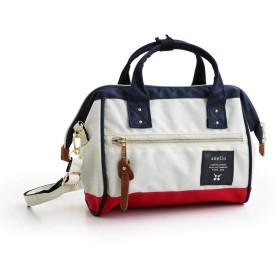 (アネロ) ミニショルダーバッグ 斜めがけ 口金入り 硬め ポリキャンバス素材 鞄 レディース 高さ19cm×横25cm×マチ9cm/-01 F/マルチ