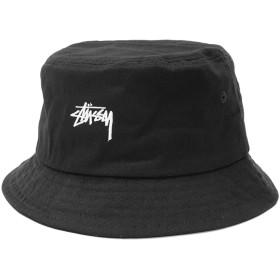 [ステューシー] STUSSY バケット ハット HO18 Stock Bucket Hat 帽子 サイズL-XL ブラック [並行輸入品]