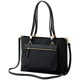 50%OFF【レディース大きいサイズ】 ポーチ付きバッグ(A4サイズ対応) - セシール ■カラー:ブラック