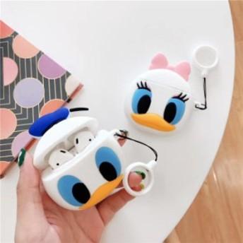 Donald Duck Daisyドナルドダックデイジー AirPods ケース カバー 収納ケース エアーポッズケース イヤホンケース 収納バッグ 保護 防塵