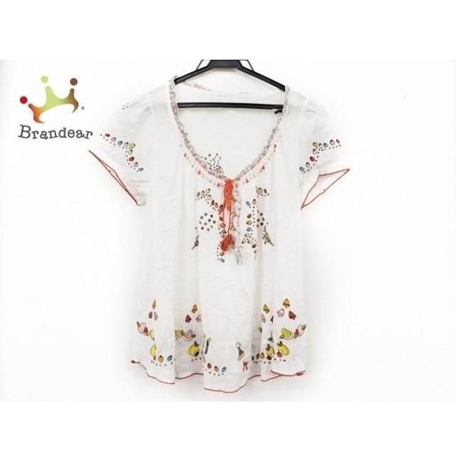 フランシュリッペ franchelippee チュニック サイズM レディース 美品 白×レッド×マルチ 刺繍 新着 20190816