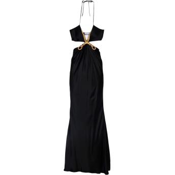 《セール開催中》MOSCHINO レディース ロングワンピース&ドレス ブラック 40 シルク 100%