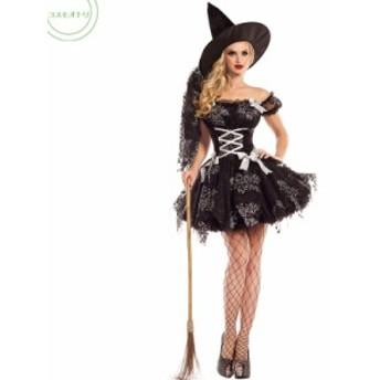 魔女 ハロウィン衣装 Halloween コスチューム 女性 大人用 巫女 悪魔 コスプレ グッズ ウィッチ 仮装 万聖節 レディース 余興 イベント