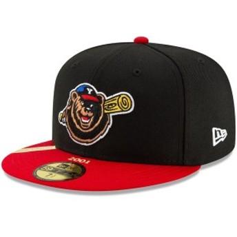 ニューエラ メンズ 帽子 アクセサリー Yakima Bears New Era 100th Anniversary Patch 59FIFTY Fitted Hat Black