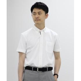(NOLLEY'S/ノーリーズ)DRY MASTER カノコ半袖ボタンダウンシャツ 19SS/メンズ ホワイト 送料無料
