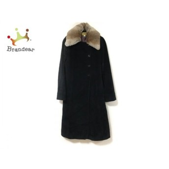 ホコモモラ JOCOMOMOLA コート サイズ40 XL レディース 黒×ベージュ 冬物 新着 20190816
