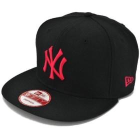 NEWERA(ニューエラ) 9fifty スナップバックキャップ MLB ニューヨーク ヤンキース ブラック/ストロベリー ピンク