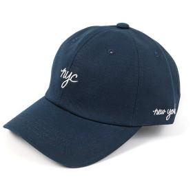 [エムエイチエー] M.H.A.style 帽子 キャップ nyc ロゴ刺しゅう ローキャップ 22177 B.ネイビー