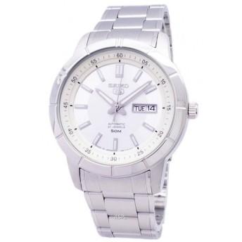 送料無料 SEIKO SNKN51J メンズ 腕時計 SEIKO5 自動巻き セイコー5 ホワイト シルバー