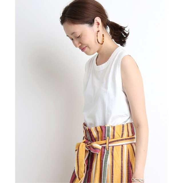 SLOBE IENA 【ORCIVAL/オーシバル】JERSEY ノースリーブTシャツ◆ ホワイト フリー