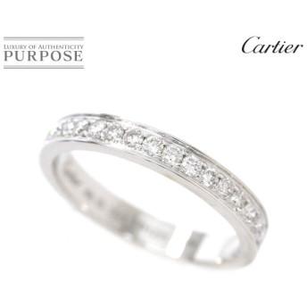 カルティエ Cartier ダイヤ リング #48 K18WG ハーフ エタニティ 18金ホワイトゴールド 750
