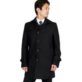 洋服倉庫 特選 紳士 訳あり アルスターカラーコート 保温性ある高品質メルトン素材 ウールコート 紳士 コート RC3906