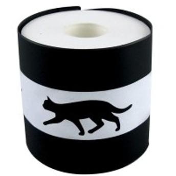 大西賢製販 日本製 ストックペーパーカバー (ペーパー付き) ネコ ブラック 45.8×11.7cm 『Abeille(ア