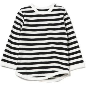 (コドモビームス)こども ビームス/Tシャツ / 1cmボーダー 長袖 ベビーTシャツ (80~90cm) キッズ BLK/WHT XS(80-90)