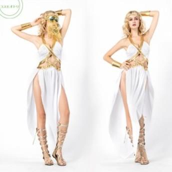 コスプレ ハロウイン Halloween キャラクター 女神 セクシー ギリシャ スタイル ワンピース プリンセス 女王 パーティーグッズ