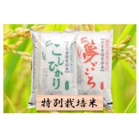特別栽培米 コシヒカリ/夢ごこち 精米4kg (各2kg)