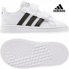 adidas【アディダス】 GRANDCOURT I (グランドコート) ランニングホワイト ベビー 赤ちゃん シューズ 靴 子供 adk 19FW ef0118