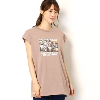 [マルイ]【セール】フレンチスリーブ転写プリントチュニックTシャツ/イング(INGNI)