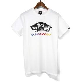 バンズ(VANS)Tシャツ VA19FW-MT14 Grad Check 0TW S/ST-Shirts スケボーロゴ プリントTシャツ TEE (ホワイト, XL)
