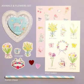 animals & flowers set