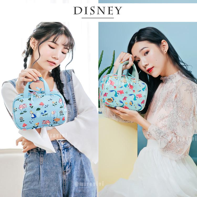 Disney迪士尼緞面手提化妝箱 萬用包