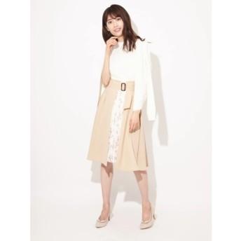 【ファビュラス アンジェラ/Fabulous Angela】 3Wayフラワー×無地ブロッキングトレンチプリーツスカート