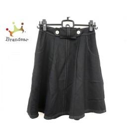 エムズグレイシー M'S GRACY スカート サイズ36 S レディース 美品 黒 リボン/ラメ   スペシャル特価 20191116