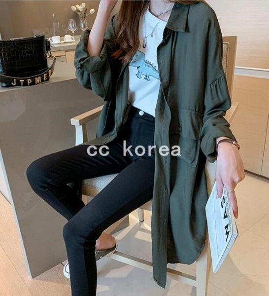 不規則剪裁大口袋襯衫外套 CC KOREA ~ Q24312