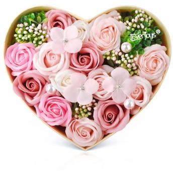 ソープフラワー ボックス ソープフラワーギフト 花 バラ ハートBOX・Lサイズ 誕生日 プレゼント 母 女性 女友達 彼女 結婚祝い お祝い ギフト 退職 新築祝い 送別会 お花
