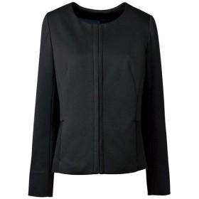 【レディース】 ノーカラージャケット(事務服) - セシール ■カラー:ブラック ■サイズ:7AR,9AR,11AR,13AR,15ABR,17ABR,19ABR,21ABR