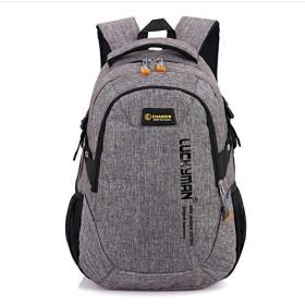 GzPuluz アウトドアバッグ ユニセックス防水ポリエステルバックパックスクールバッグカジュアルビジネスラップトップバックパック(ブラック) (色 : Grey)