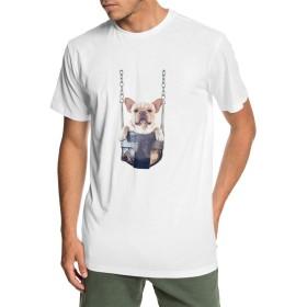 メンズ 丸襟 Tシャツ フレンチ・ブルドッグ 半袖 Tシャツ メンズ おしゃれ 快適な 無地 軽い 柔らかい カジュアルtシャツ 綿 夏 シンプル 父の日 通勤 通学