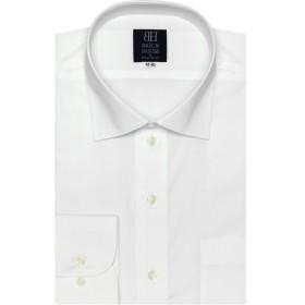 [マルイ] 形態安定 ノーアイロン 長袖ワイシャツ ワイド 定番白無地 ブロード 標準体/ブリックハウス(BRICKHOUSE)