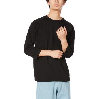 [プリントスター] 7分袖 5.6オンス CRB ヘビーウェイト ベースボール Tシャツ ブラック 日本 M (日本サイズM相当)