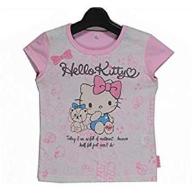 女の子 半袖 Tシャツ 742KT1021 ハローキティ HELLO KITTY Sanrio 120 薄ピンク/742KT1021