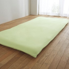 フィットタイプシーツ(無地) 日本製綿100% - セシール ■カラー:グリーン ピンク ベージュ ブルー ■サイズ:ダブル(145×210cm),シングル(105×210cm)